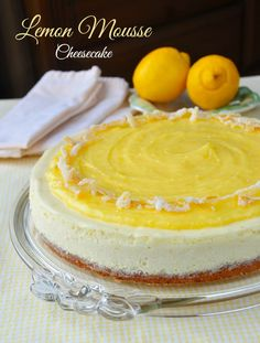 Ultimate Lemon Mousse Cheesecake - a light as air, lemon lovers dream topped with creamy lemon curd and candied lemon zest. The Ultimate.