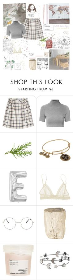 """""""♡ anxiety"""" by spriingy ❤ liked on Polyvore featuring Carven, Glamorous, Alex and Ani, Eberjey, MABEL, Nasty Gal, Jayson Home, Davines and Hot Topic"""