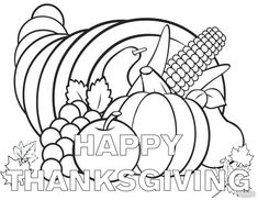 211 Best Thanksgiving Coloring Pages images   Coloring pages for ...