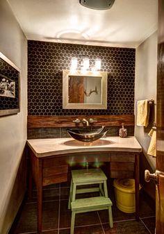 More Than Half a Bath - midcentury - Bathroom - Grand Rapids - Mindi Freng Designs