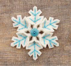 синяя снежинка