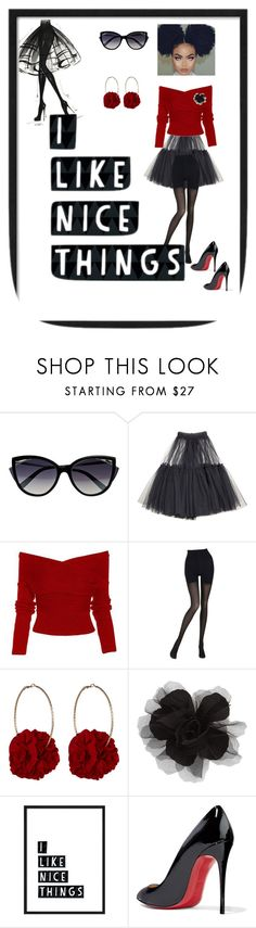 """NICE THINGS"" by destinystarheaven on Polyvore featuring La Perla, Molly Goddard, Wolford, Vjera Vilicnik, Cara and Christian Louboutin"