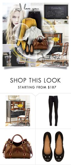 """""""A Splash of Yellow"""" by cynthia335 ❤ liked on Polyvore featuring Pottery Barn, rag & bone, Dooney & Bourke and Marc by Marc Jacobs"""