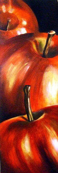 26 Ideas fruit artwork ideas for 2019 Apple Painting, Fruit Painting, Painting & Drawing, Acrylic Art, Acrylic Paintings, Oil Paintings, Pictures To Paint, Painting Techniques, Painting Videos