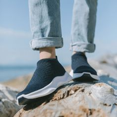 Slip-ons, lace-less, loungers. Whatever you call them, get where you want to go even faster with these comfy, extra stretchy sneaks. Waterproof Sneakers, Comfortable Sneakers, Carbon Footprint, Slip On Shoes, Women's Shoes, Comfy, Lace, Runners, Womens Fashion