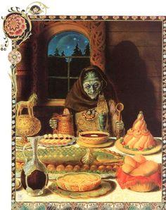 'Baba Yaga' from 'Vasilisa the Brave' by Kinuko Y. Craft.