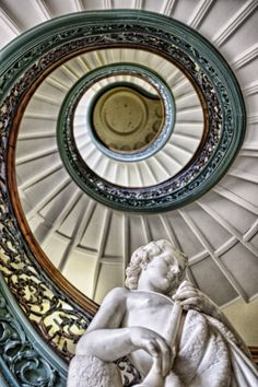 Stairway at the Peabody Institute, Baltimore Maryland, USA Beautiful Architecture, Beautiful Buildings, Art And Architecture, Baltimore City, Baltimore Maryland, Stairways, Life Is Beautiful, Travel Photos, Spiral Staircase