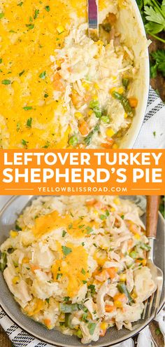 Turkey Shepherd's Pie recipe is the perfect way to create a whole dinner fr. This Turkey Shepherd's Pie recipe is the perfect way to create a whole dinner fr.This Turkey Shepherd's Pie recipe is the perfect way to create a whole dinner fr. Turkey Shepherds Pie Recipe, Shepherds Pie Rezept, Thanksgiving Leftover Recipes, Recipes With Leftover Turkey, Thanksgiving Turkey, Leftover Turkey Casserole, Leftovers Recipes, Turkey Leftovers, Cooked Turkey Recipes