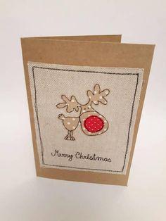Christmas Sewing, Christmas Embroidery, Christmas Cards To Make, Christmas Mood, Christmas Fabric, Christmas Greeting Cards, Christmas Greetings, Christmas Crafts, Embroidery Cards