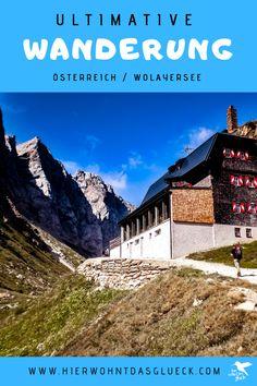 Die ultimative Wanderung zum Wolayersee in Österreich. Der Wolayersee in der Gemeinde Lesachtal (Kärnten) verspricht eine wunderbare Abkühlung bei heißen Sommertagen. Noch dazu gehört diese Wanderung zu den schönsten der Region. #hike #wolayersee #wanderninösterreich Travel Inspiration, Happiness, Mountains, Nature, Outdoor, Europe Travel Tips, Places To Visit, Communities Unit, Outdoors