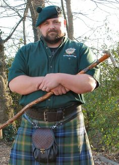 What my husband might look like in a kilt..make the full beard gray.... (By @Rita Wood )