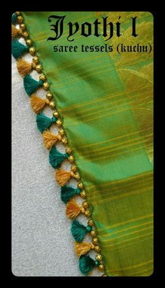 40 Ideas Crochet Edging And Borders Tassels Saree Jacket Designs, Saree Tassels Designs, Saree Kuchu Designs, Saree Blouse Patterns, Stylish Blouse Design, Fancy Blouse Designs, Saree Jackets, Maggam Work Designs, Hand Work Embroidery