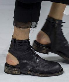 ann demeulemeester détails at DuckDuckGo Sock Shoes, Shoe Boots, Shoes Sandals, Heels, Fashion Shoes, Fashion Accessories, Mens Fashion, Ann Demeulemeester, Shoe Art