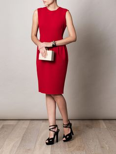 Rochie Roksanda Ilincic - Pemberton double-crepe dress (140695) Roksanda, Crepe Dress, Bottega Veneta, Lanvin, Cool Style, Dresses For Work, Tops, Fashion, Moda
