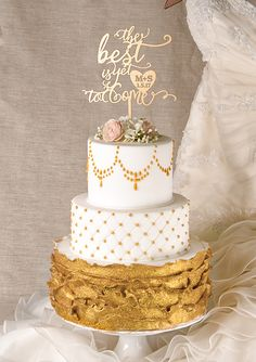 Personalized laser cut cake topper from @4LOVEPolkaDots For more pretty wedding inspiration and to buy this cake topper follow them on IG here https://instagram.com/4lovepolkadots