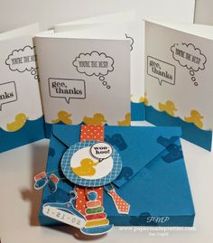"""papermadeprettier: Simple Saturday: """"Ducky Thanks"""" 2014-2015 Stampin' Up Annual Catalog Sneak Peek - Something for Baby"""