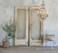so pretty...elegant glass paned doors.....