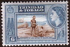 Trinidad and Tobago 1953 SG 272 Discovery of Lake Asphalt Fine Mint SG 272 Scott 77 Other Trinidada and Tobago Stamps HERE