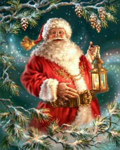 Santa, by Artist Dona Gelsinger