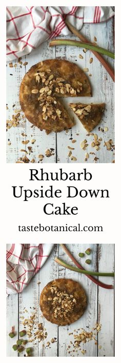 This quick and easy Rhubarb Upside Down Cake can be served as a cake with morning coffee or afternoon tea or as a desssert with cream or ice cream.