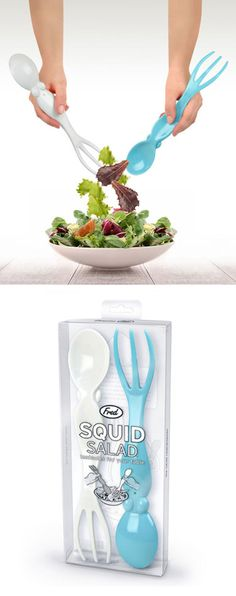 Squid salad server utensils #product_design