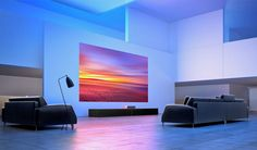 Cinematic Laser Projectors The Xiaomi Mi Laser Projector Plays Cinema-Quality Content Home Theater Setup, Best Home Theater, Home Theater Seating, Movie Theater, Short Throw Projector, Digital Light, Home Theater Projectors, Build Your Dream Home, Home Automation
