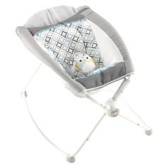 Fisher-Price Rock & Play Sleeper. We just got Cason this. Nice portable sleeper. Worth the money, it helps the baby feel like they are being held & keeps them in a more upright position while they sleep.