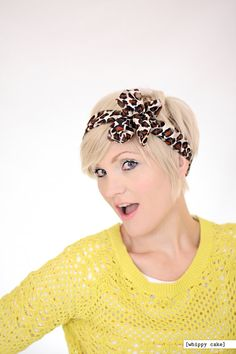 Cheetah Head Wrap by whippycake on Etsy, $16.00
