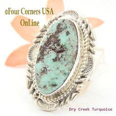 Four Corners USA Online - Size 7 1/4 Dry Creek Turquoise Large Stone Ring Navajo Artisan Thomas Francisco NAR-1683, $260.00 (http://stores.fourcornersusaonline.com/size-7-1-4-dry-creek-turquoise-large-stone-ring-navajo-artisan-thomas-francisco-nar-1683/)