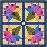 Floral Bouquet Quilt Block Pattern Download