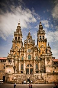 santiago-de-compostela. galicia, spain.  I still have my black and white from the point and shoot.  Santiago is St James.  There are three great Christian (old days) pilgrimages: one to Rome, one to Jerusalem, and one to Santiago de Compostela