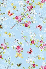 PiP Chinese Rose Blue wallpaper | Traditional | Wallpaper | PiP Studio
