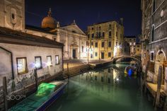 """Santa Maria Formosa - night view of Santa Maria Formosa with the reflection on the canal water. Taken while on a nightly stroll through the venetian street. Venice, Italy during winter.   For Prints:  <a href=""""http://fineartamerica.com/featured/santa-maria-formosa-aaron-choi.html"""">Fine Arts America</a> For more: aaron90311@gmail.com <a href=""""http://www.facebook.com/lifesolyrical""""> FB Page </a> <a href=""""http://www.aaronchoiphoto.com"""">Website</a> <a…"""