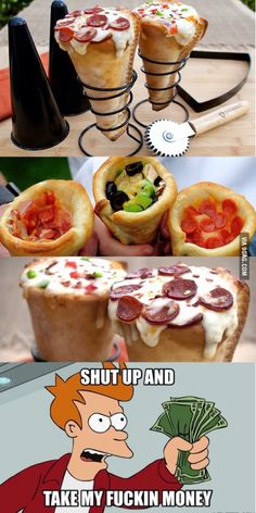 Pizza cones...