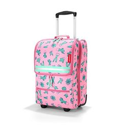 Carry-on Luggage Collections | reisenthel trolley XS kids Extra Small Roller Bag Cactus Pink * Want to know more, click on the image. Note:It is Affiliate Link to Amazon.