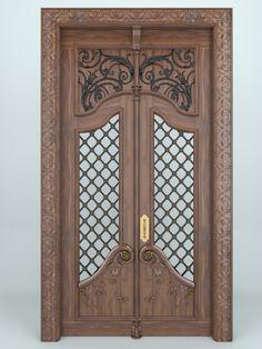 Pooja Room Door Design, Door Gate Design, Main Door Design, Wooden Door Design, House Front Design, Wood Entry Doors, Wooden Doors, Interior Exterior, Exterior Doors