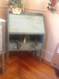 1950 black dresser I painted in chalk paint mixed with milk paint