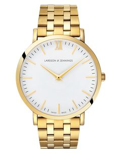 Larsson & Jennings - Gold Lugano Watch by Larsson & Jennings - Swiss Made