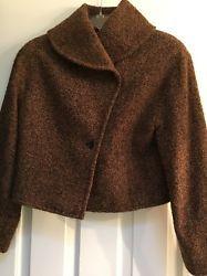 ❤❞ Belvest Womens Jacket Size 42 EUR Brown Alpaca Wool Poly #TE http://ebay.to/1R1YW9b