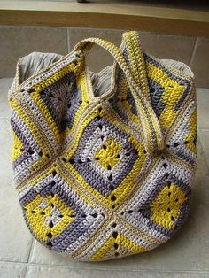 havingahappyday: customized knitting bag - Garden Picture
