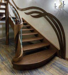 Interior Stair Railing, Modern Stair Railing, Stair Railing Design, Home Stairs Design, Modern Stairs, Modern House Design, Door Design, Home Interior Design, Wrought Iron Stairs