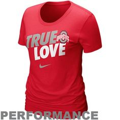 Nike Ohio State Buckeyes Ladies Wanna Talk Performance T-Shirt - Scarlet   I could buy out the entire store!