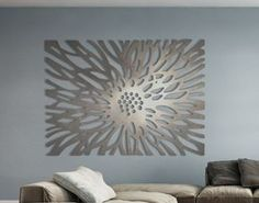Flowerburst: This is a limited edition laser cut aluminum decorative panel in a contemporary design.Laser Cut Metal Decorative Wall Art Panel Sculpture for Home, Office, Indoor or Outdoor Use (Flowerburst) Any individual can produce a Marvelous Ti Metal Tree Wall Art, Panel Wall Art, Wood Wall Art, Metal Artwork, Corte Laser Metal, Laser Cut Metal, Laser Cutting, Laser Cut Aluminum, White Wall Art