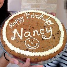 Any message looks better on a Giant Chocolate Chip Cookie.