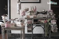 www.kamalion.com.mx - Mesa de Dulces / Candy Bar / Postres / Baby Shower / Rosa…