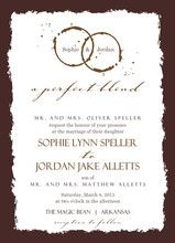 Brown Coffee Perfect Blend Wedding Invite Sweet Note: Perfect for coffee lovers
