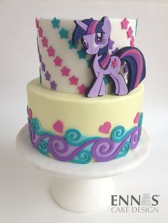 My Little Pony - Twilight Sparkle  - I made this cake as the final touch on my very first tutorial, where I will explain how to make the Twilight Sparkle's 2D topper. Coming soon to my blog….