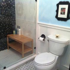 Teak wood bench for shower
