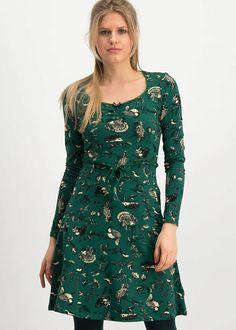 Blutsgeschwister Vestito Happy Folks Gioia Vestito Hunting Trophy - Vestito - Ideas of Vestito Virgos Lounge, Green Fabric, Lightweight Jacket, Green Dress, Dress Making, Feminine, My Style, Casual, How To Wear
