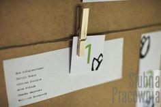 lista gości przy stole